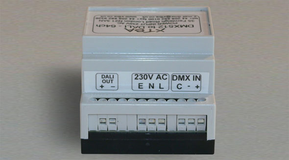 DALI to DMX - 64 channel DIN Rail